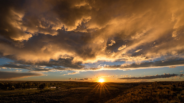 Sunset, Boulder, Wyoming