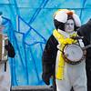 Costumed musicians at Mummers Parade, Philadelphia, Pennsylvania