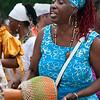 Participant at Odunde festival, Philadelphia, Pennsylvania