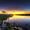 A beautiful sunset in the Florida Everglades at Holiday Park in Broward County, just north of Miami-Dade.