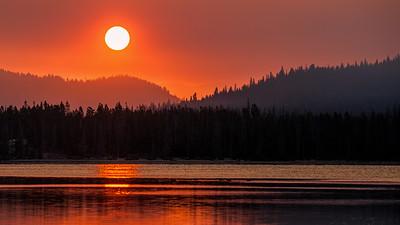 Sunrise over Stanley Lake, Idaho
