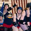The Philly Roller Girls skate a team intro lap, Philadelphia, Pennsylvania