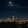Moon over Seattle