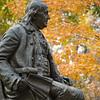 Statue of Benjamin Franklin on the campus of the University of Pennsylvania, Philadelphia, PA..