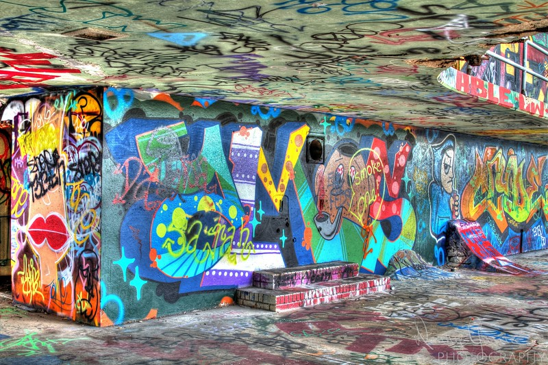 An abandoned stadium in Miami has become an art canvas for graffiti artists.  Often thought of an eyesore, the once boring cement walls have become a colorful graffiti art canvass that is not seen by many.