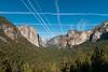 Yosemite with con trails