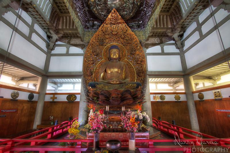 Buddha in Byodo-In Temple - Hawaii