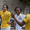 Drill team dancers march in the annual Peoplehood parade, Philadelphia, PA.