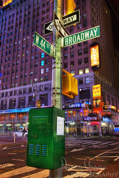 Broadway and 44th Street in New York City