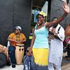 Dancer and drum circle at Odunde festival, Philadelphia, Pennsylvania