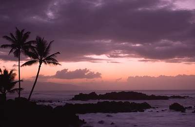 North shore sunset, Hawaii
