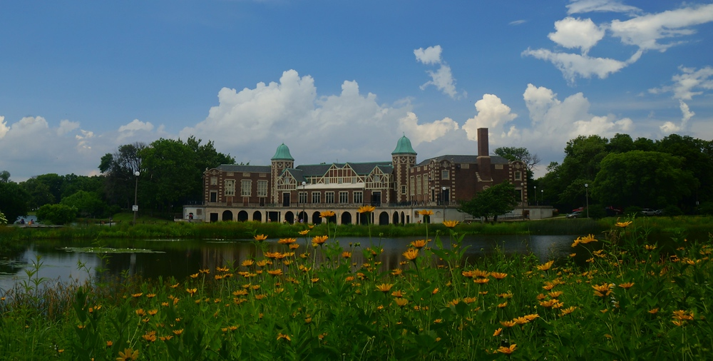 Scenic views from Humboldt Park in Chicago