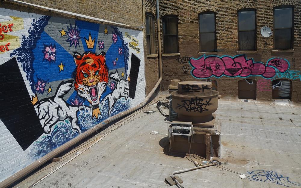 Graffiti at Wicker Park in Chicago