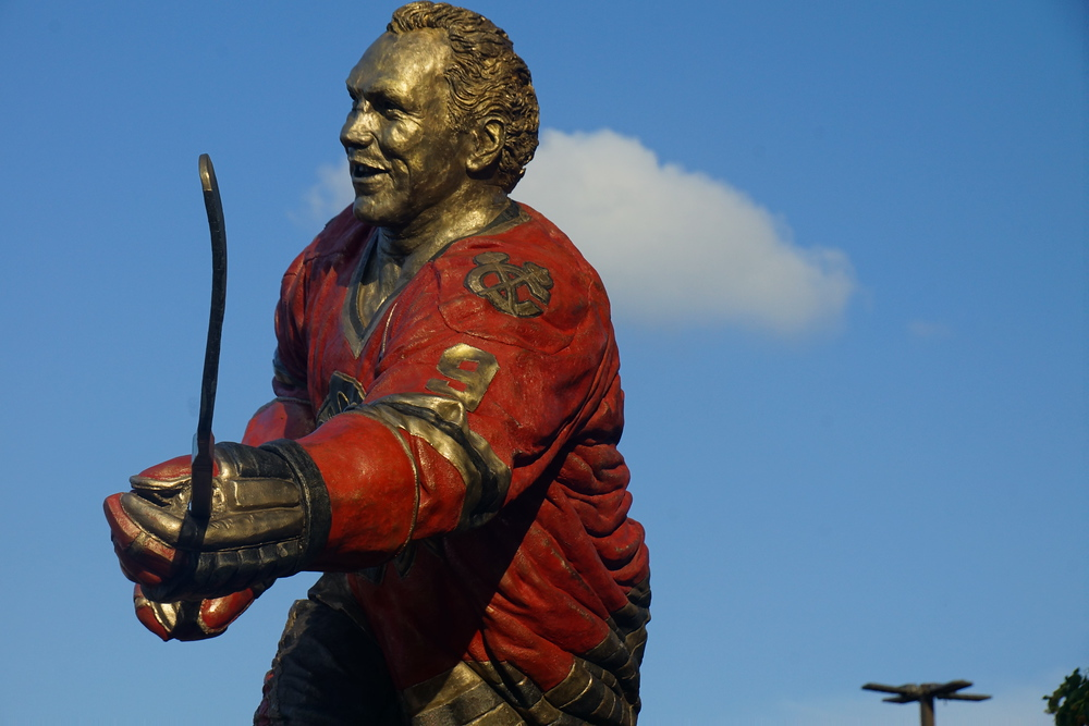 Bobby Hull Statue at the United Center home of the Chicago Blackhawks
