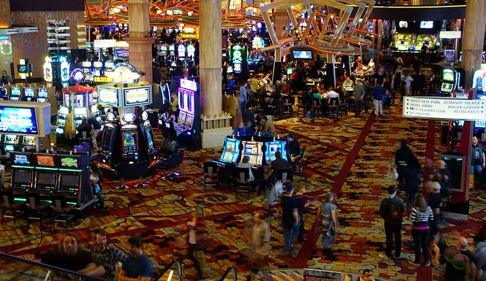 People gambling at a casino in Las Vegas
