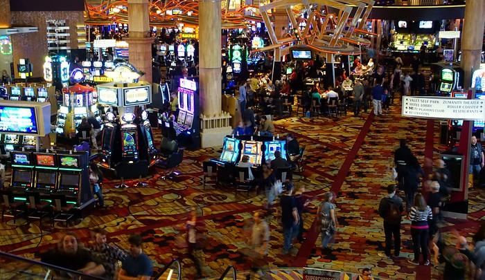 People gambling at a casino in Las Vegas