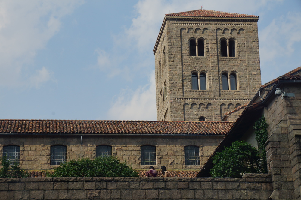 Outside of the Cloisters located in New York City, USA