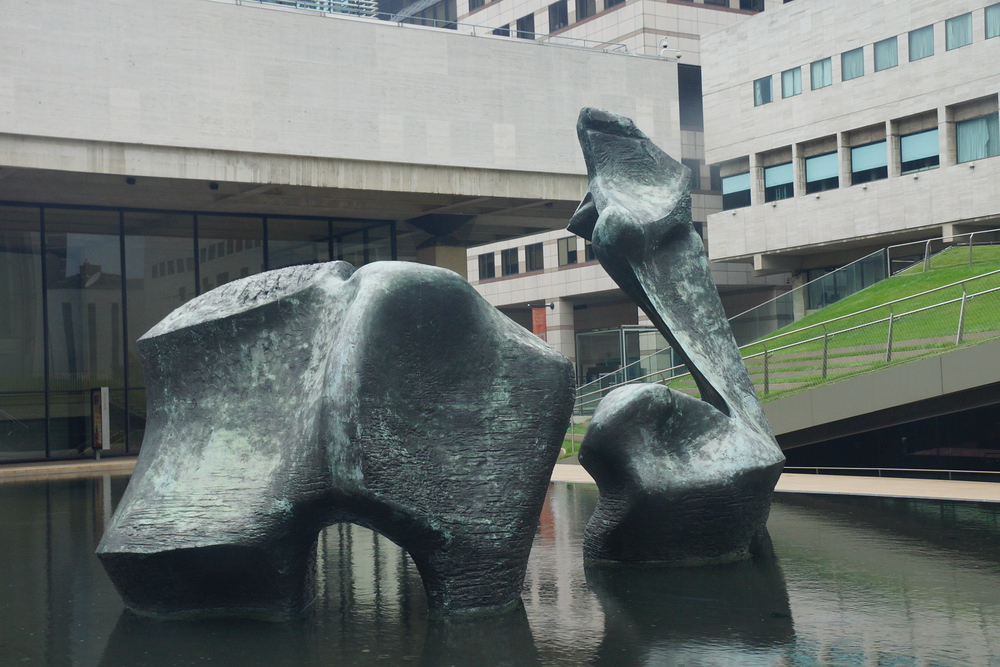 Sculpture outside of the Lincoln Center in New York City