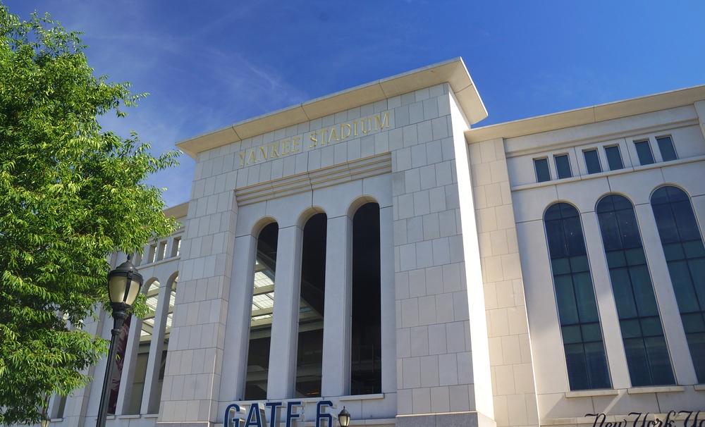 Yankee Stadium located in the Bronx, New York City