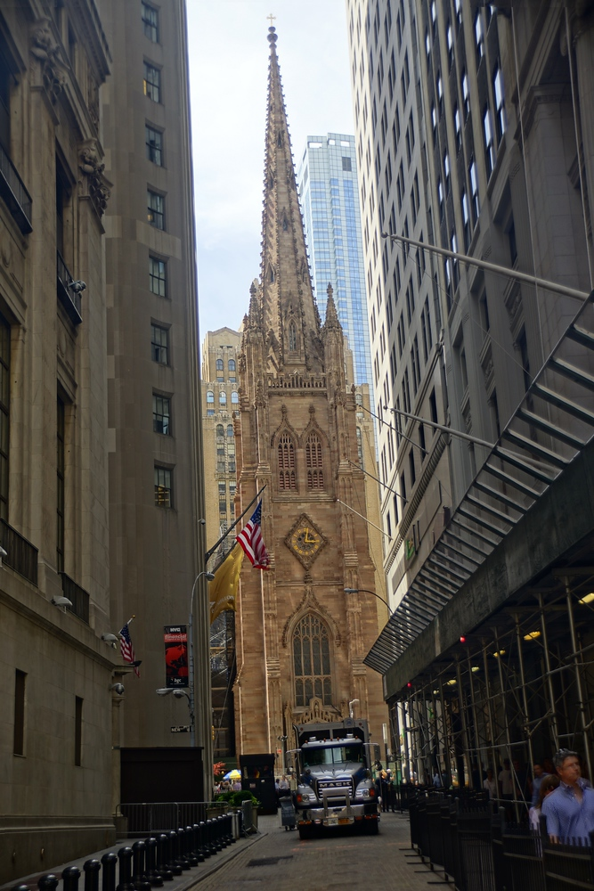 Trinity Church in downtown New York City