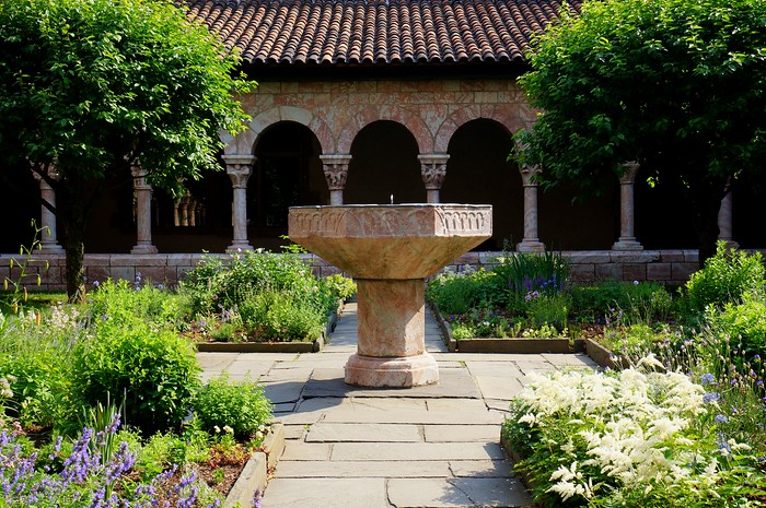 Visiting the Cloisters in Upper Manhattan.
