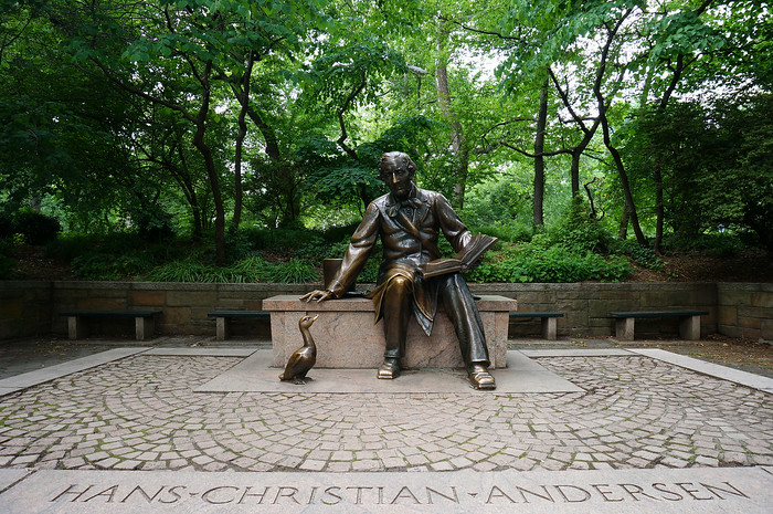 Hans Christian Andersen Sculpture in Central Park.