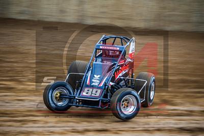 USAC National Sprintcars, Lawrenceburg Speedway, 4/1/2017