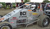 Justin Marvel of Speedway, Ind took a terrible flip in the #47 BCI car