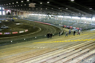 that little stretch of track....is the main stretch...with the main stretch stand (not as big as the turns 3 and 4 strands.