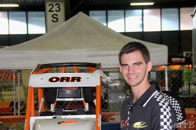 Alex Orr came from Sydny Australia to race in the Chili Bowl