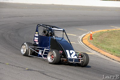 #12 Tyler Corriher drives for the Noffsinger/Brown team