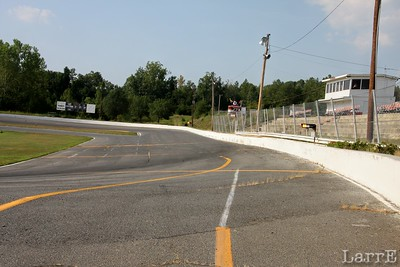 "the 1/4 mile ""out back track"" at Concord Motor Speedway, SC"
