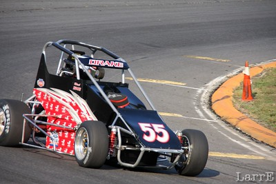 #55 Nick Drake in the Troy Cline racing midget