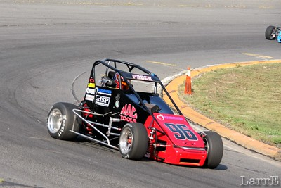Austin Prock races in young guns class