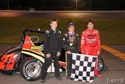 top three in young guns race