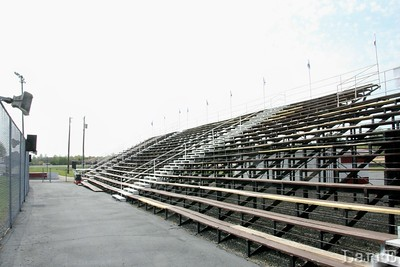 front stretch bleachers