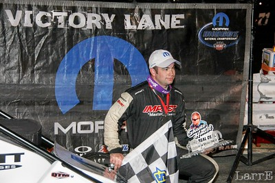 East in victory lane