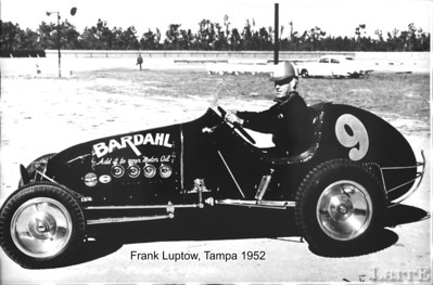 Frank Luptow in his own Offy sprint car (he bought from Johnnie Parsons) at Tampa Feb 11952