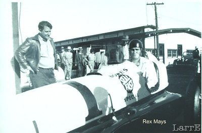 Rex Mays and the Bowes Seal Fast car.