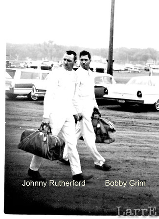 Johnny Rutherford and Bobby Grim