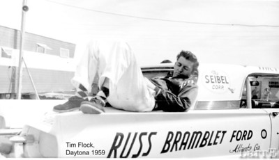 """The next 6 photos are from Vern """"Flip"""" Fritch a columnest for NSSN years ago. He gave me these photos. This is Tim Flock resting at Dayton Beach July 1959"""