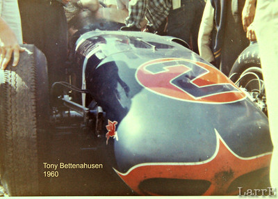 the DowGard Spl owned by Lindsey Hopkins driven by Tony Bettenhauese  Indy 1960