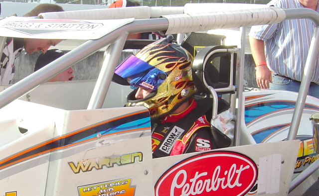 Tony Stewart is right at home in an open wheel racer.