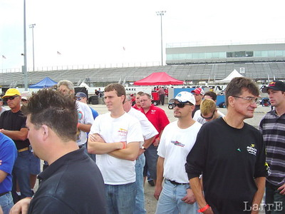 more drivers meeting. The black shirt will sell you some Impact safety wear.