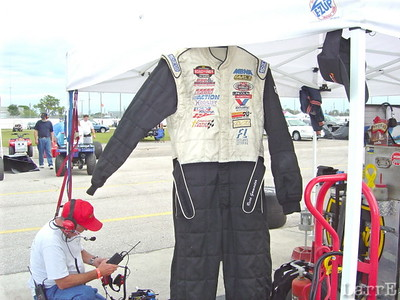 Russ Gamesters suit waits for him