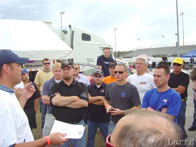 Drivers meeting...Hey, there's little Jimmy Kite Indy 500 driver