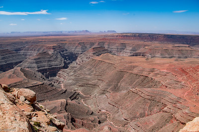 Muley Point Overlook: San Juan River's canyon