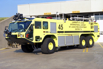 LAMBERT ST LOUIS   CRASH 45   OSHKOSH STRIKER