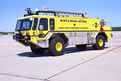 Myrtle Beach Jetport SC - Rescue 2 - 1992 E One Titan 1250-1500-200F #10564