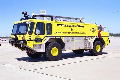 Myrtle Beach Jetport SC - Rescue 3 - 1992 E One Titan 1250-1500-200F #10565